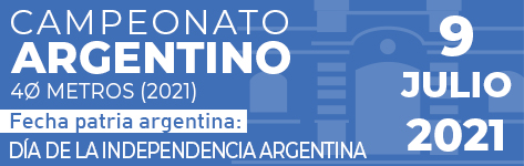CAMPEONATO ARGENTINO 40 METROS